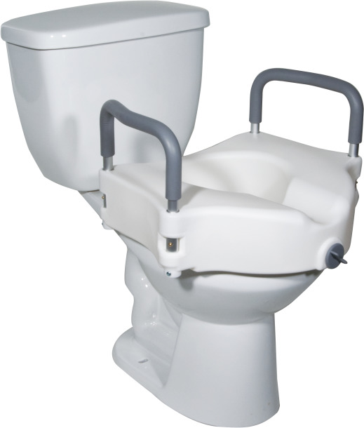 Raised Toilet Seat with Removable Arms 2 in 1