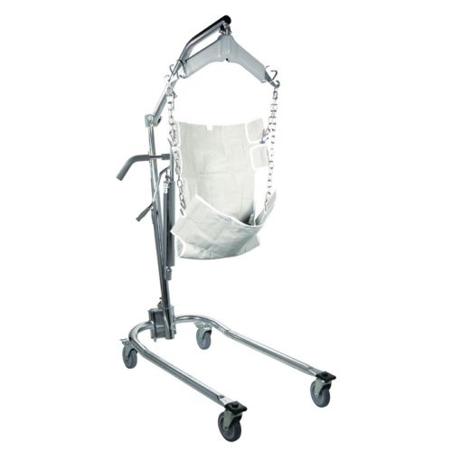 Hydraulic Deluxe Chrome Plated Patient Lift with Six Point Cradle