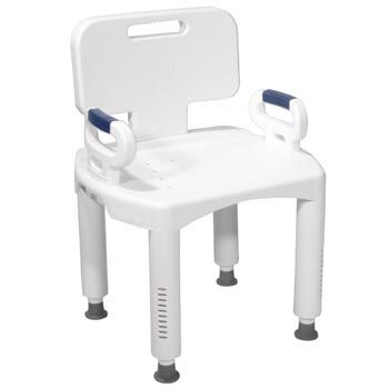 Premium Series Bath Bench with Back
